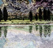 Thunderstorm in Tuolumne Meadows by Sally Sargent
