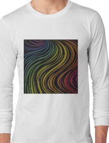 zebra rainbow color Long Sleeve T-Shirt
