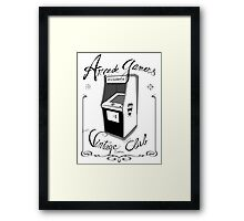 Arcade gamers - Vintage club Framed Print