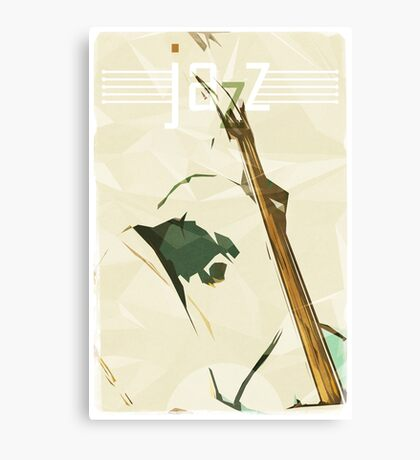 Contrabassist. Jazz Club Poster Canvas Print