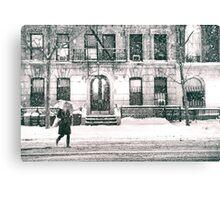 Snow at Night - New York City Canvas Print