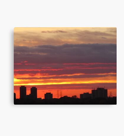 West Side Story  Rumble Sunset Canvas Print