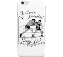 Boxing ring - Vintage club iPhone Case/Skin