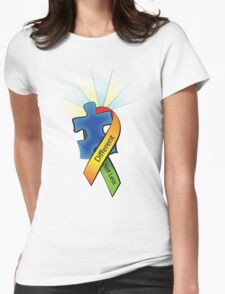 Autism Ribbon with Puzzle Peace Womens Fitted T-Shirt