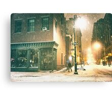 Greenwich Village on a Winter Night - New York City Canvas Print