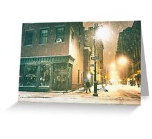 Greenwich Village on a Winter Night - New York City Greeting Card