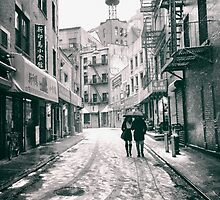 Doyers Street - Snow - New York City by Vivienne Gucwa
