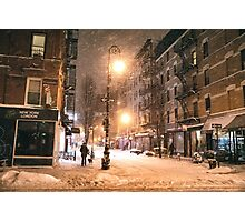 Lower East Side - Winter Night - New York City Photographic Print