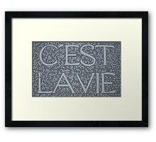 C'est La Vie (Sold Original Ebay) Framed Print