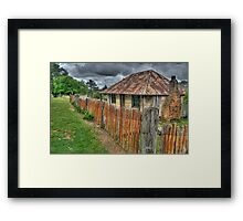 Beyers Cottage - Hill End, NSW - The HDR Experience Framed Print