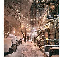East Village in the Snow - New York City Photographic Print