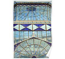 Blue glass conservatory - Adelaide Botanic Gardens Poster