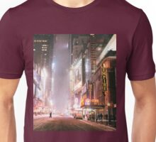 Snow on a Winter Night - Times Square - New York City Unisex T-Shirt