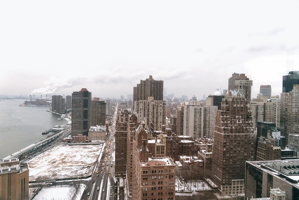 New York City - Snow - Tudor City from Above by Vivienne Gucwa