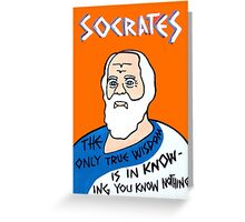 Socrates Pop Folk Art Greeting Card