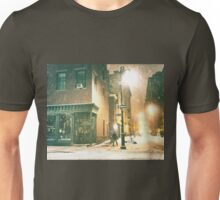 Greenwich Village on a Winter Night - New York City Unisex T-Shirt