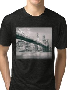 Brooklyn Bridge at Night Tri-blend T-Shirt