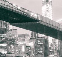 Brooklyn Bridge at Night Sticker