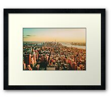 New York City - Skyline at Sunset Framed Print