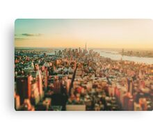 New York City - Skyline at Sunset Metal Print