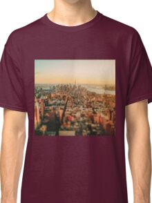 New York City - Skyline at Sunset Classic T-Shirt