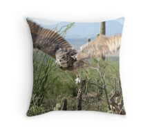 Great Horned Owl ~ Captive Throw Pillow