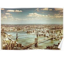 New York City - Skyline from Above  Poster