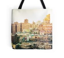Graffiti Rooftops at Sunset - Chinatown - New York City Tote Bag