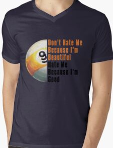 Im Beautiful Im Good 9 Ball Mens V-Neck T-Shirt