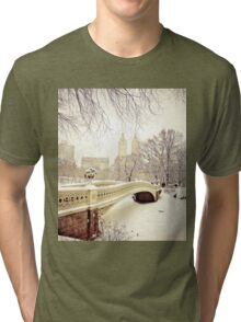 Winter in Central Park Tri-blend T-Shirt
