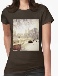 Winter in Central Park Womens Fitted T-Shirt