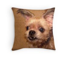 Hurry up mom, I can't stand the suspense!!! Throw Pillow