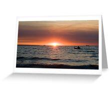 Sunset paddler - Darwin harbour Greeting Card