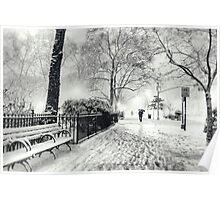 Winter Night - Madison Square Park - New York City Poster