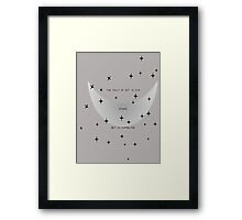 The Fault Is Not In Our Stars Framed Print