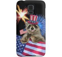 Patriotic Raccoon Samsung Galaxy Case/Skin