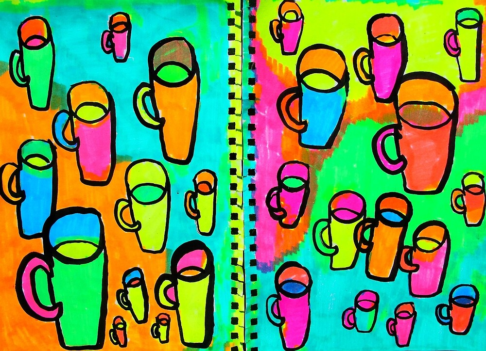 26 coffee cups by donna malone