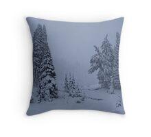 First Snowstorm Throw Pillow