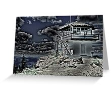 Little Guard Lookout Tower Greeting Card