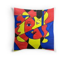 Elementary Cubism Throw Pillow