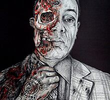 Breaking Bad Gus Fring as Gangster by spink2kproducts