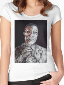 Breaking Bad Gus Fring as Gangster Women's Fitted Scoop T-Shirt