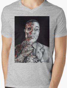 Breaking Bad Gus Fring as Gangster Mens V-Neck T-Shirt