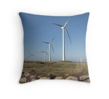 Carnsore Point Wind Farm Throw Pillow