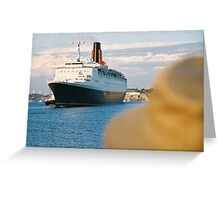 The QE2 leaves Fremantle harbour/A Greeting Card