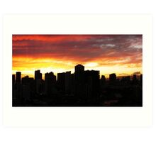 Penthouse Sunset Art Print
