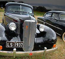 1937 La Salle and 1950 Pontiac Silver Streak by PyramidHill