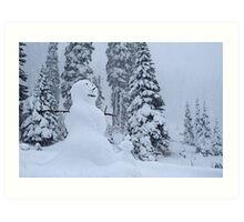 Snowman's Paradise Art Print