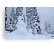 Snowman's Paradise Canvas Print