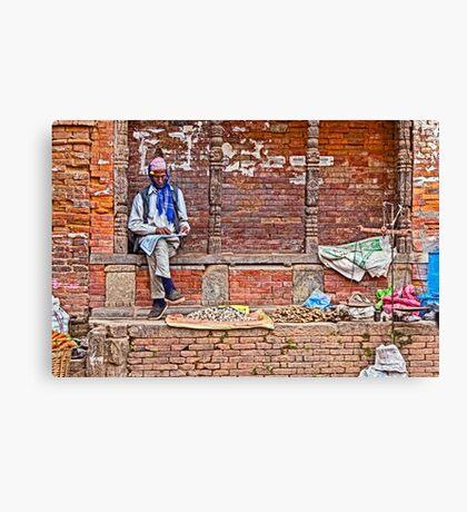 Street Seller. Canvas Print